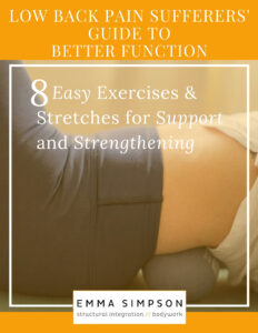 Low Back Pain Sufferers' Guide to Better Function | Emma Simpson